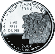 Live free or die, the motto of New Hampshire on its state quarter