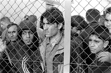 Arrested refugees-immigrants in Fylakio detention center, Evros, Greece.