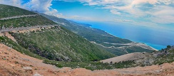 A view of the Albanian Riviera, from the Llogara National Park.