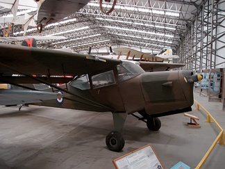A preserved Auster AOP.6 at the Yorkshire Air Museum.