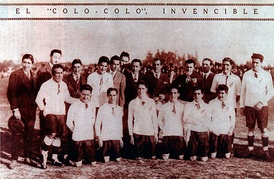 One of the first Colo-Colo line-ups, 1925