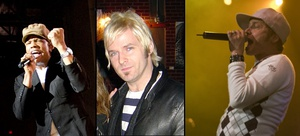 DC Talk members left to right: Michael Tait, Kevin Max Smith, Toby McKeehan