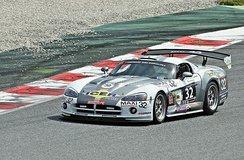 A Viper Competition Coupe GT3 being driven by a privateer team