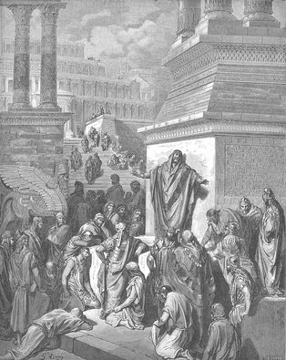 Jonah Preaching to the Ninevites (1866) by Gustave Doré