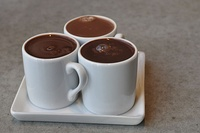 The first chocolate version (liquid) was made by indigenous people in present-day Mexico, and was exported from Mexico to Europe after the Spanish conquest.[328]