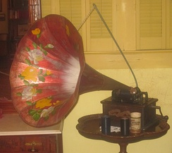Early phonograph at Deaf Smith County Historical Museum in Hereford, Texas