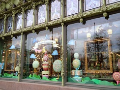 The store front window display of the shop on March 30, 2012.