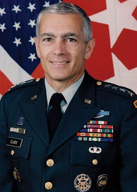 Wesley Clark served as the Supreme Allied Commander Europe (SACEUR)