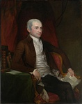 Portrait of John Jay, US minister to Great Britain.