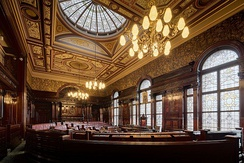 Debating hall of Glasgow City Chambers, seat of  Glasgow's City Council