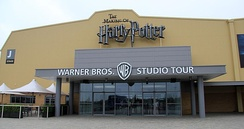 The entrance to The Making of Harry Potter studio tour in Leavesden, Hertfordshire