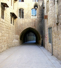 Qalayet al-Mawarina alley at the Christian quarter in Jdeydeh, dating back to the early 17th century