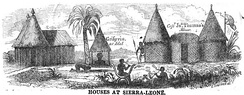 Houses at Sierra-Leone (May 1853, X, p.55)[13]