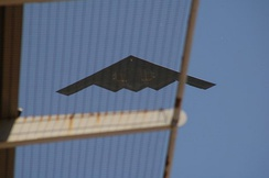 Stealth Bomber flyover at the 2005 Indianapolis 500