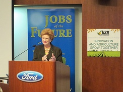 Senator Stabenow kicks off her Jobs of the Future Tour at Ford's cutting-edge bio-based manufacturing lab in Dearborn.