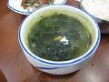 Суп из морских ежей с водорослями