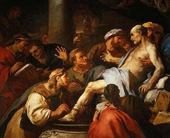 The Death of Seneca (1684), painting by Luca Giordano, depicting the suicide of Seneca the Younger in Ancient Rome