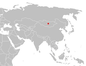 Location of the Orkhon Valley in Asia.