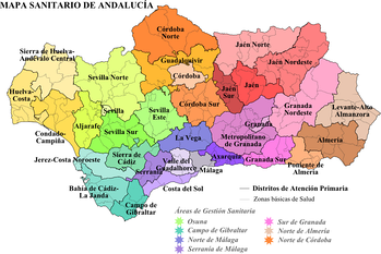 Healthcare districts of Andalusia
