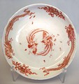 Hard-porcelain plate with Chinese dragons, Circa 1734, Musée des Arts Décoratifs, Paris.