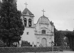 Royal Presidio Chapel c. 1934. The existing building dates to 1794.