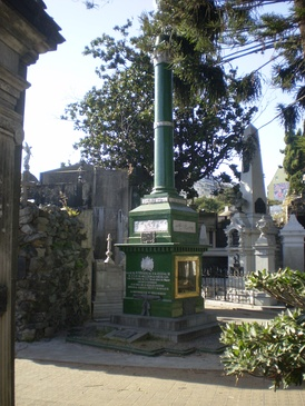 Tomb of Irish-born Admiral and founder of the Argentine Navy William Brown.