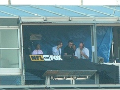 NFL on Fox announcers at Candlestick Park, November 16, 2008