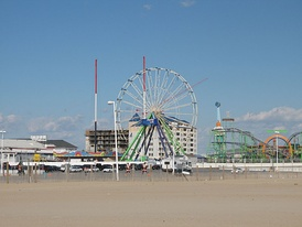 Ocean City's inlet during the offseason