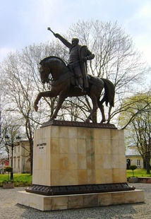 The statue of Jan Zamoyski, the founder of the city