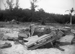 Remains of Dr. Cyrus Teed's mausoleum on Estero Island