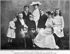 Roosevelt family at Oyster Bay, circa 1903