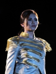 "Philippine entertainer Sarah Geronimo, widely known as ""Popstar Royalty""."