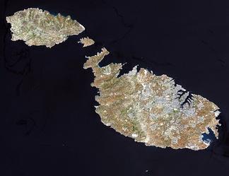 Спутниковый снимок Мальты
