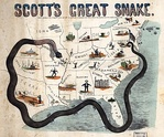 "Cartoon map illustrating Gen. Winfield Scott's plan to crush the Confederacy, economically. It is sometimes called the ""Anaconda plan""."