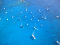 Sailboats and yachts in St. Barts.