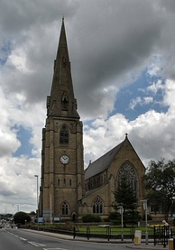 The parish church of St Luke the Evangelist, which originated as a chantry chapel for the Heywood family