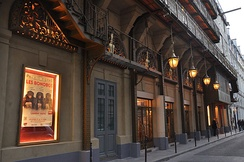 Today's Théâtre du Palais-Royal, originally designed by Victor Louis in 1784 with fire escapes added by Paul Sédille in 1880
