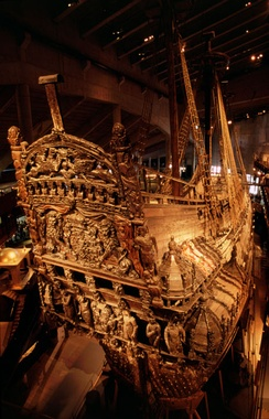 Vasa is one of the oldest and best-preserved ships salvaged in the world, owing to the cool temperatures and low salinity of the Baltic Sea