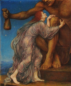 The Worship of Mammon (1909) by Evelyn De Morgan.
