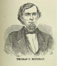 A portrait of Hindman, taken from Confederate double agent Loreta Janeta Velazquez's The Woman in Battle: A Narrative of the Exploits, Adventures, and Travels of Madame Loreta Janeta Velazquez, Otherwise Known as Lieutenant Harry T. Buford, Confederate States Army