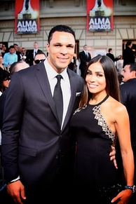 Tony & October Gonzalez at the 2014 Alma Awards