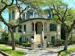 Galveston contains many restored Victorian homes