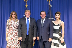 DeSantis and his wife, Casey, with President Donald Trump and First Lady Melania Trump in February 2019