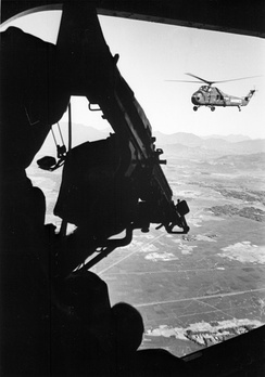 U.S. Marine Corps UH-34Ds over Mekong Delta.