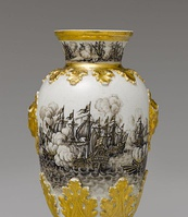 One of a pair of vases, 1720-25