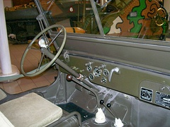 Dashboard of World War II era jeep