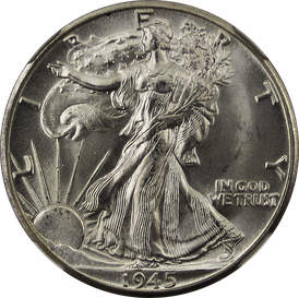 The depiction of Liberty on the Walking Liberty Half Dollar.