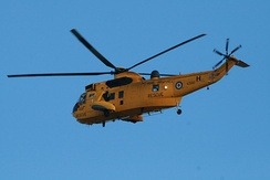 A Sea King HAR.3 of 202 RAF Squadron, who operated this type of aircraft from RAF Manston between 1988 and 1994