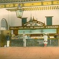 Refreshment stall at a railway station in the Madras Presidency, c. a. 1895