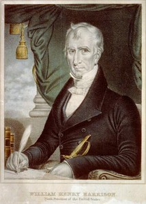 Chromolithograph print of William Henry Harrison